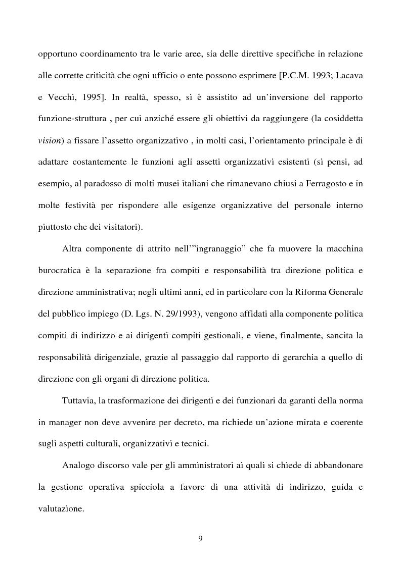 Anteprima della tesi: Il rapporto tra cittadino e pubblica amministrazione tra crisi e riforma. Il caso dell'U.R.P. del Comune di Padova, Pagina 9