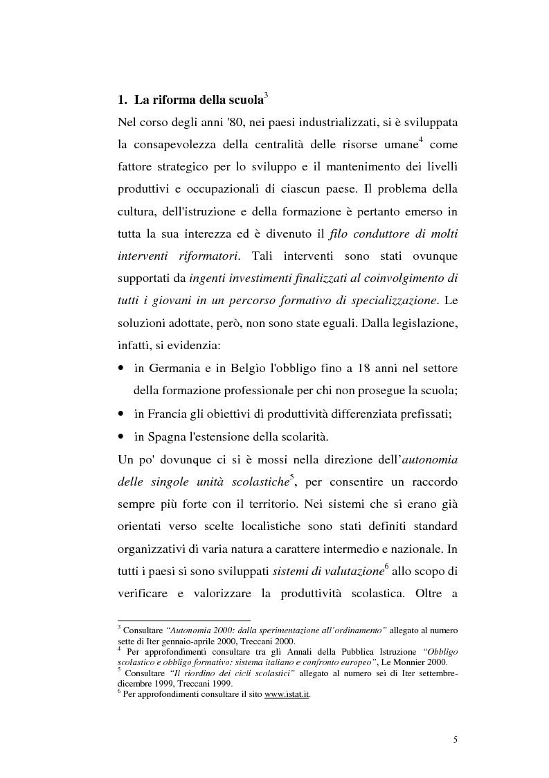 Anteprima della tesi: Alcune linee di riforma del Welfare State: il sistema scolastico e universitario, Pagina 2