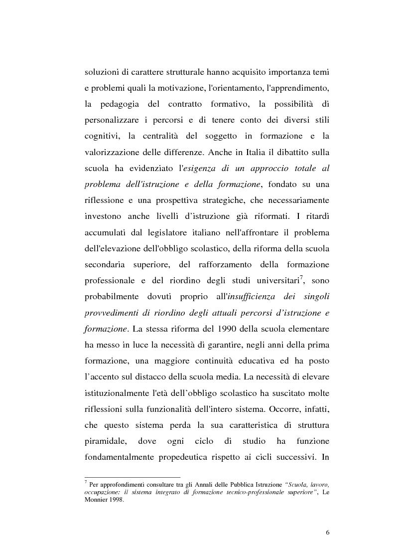 Anteprima della tesi: Alcune linee di riforma del Welfare State: il sistema scolastico e universitario, Pagina 3