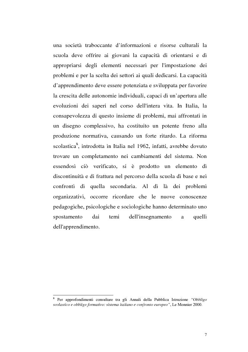 Anteprima della tesi: Alcune linee di riforma del Welfare State: il sistema scolastico e universitario, Pagina 4