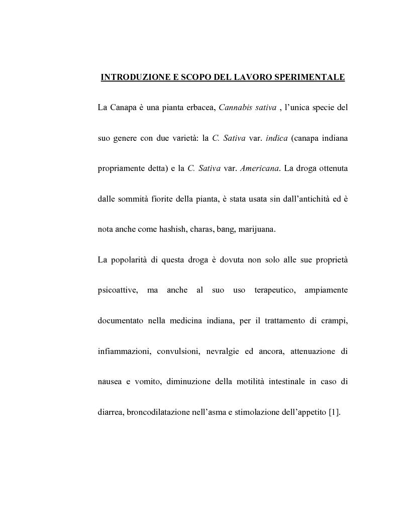 Anteprima della tesi: Controllo dell'attività bronchiale da parte dei cannabinoidi endogeni, Pagina 1