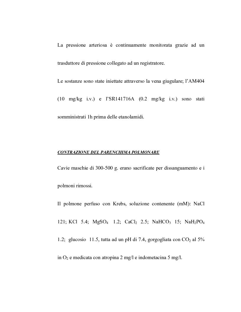 Anteprima della tesi: Controllo dell'attività bronchiale da parte dei cannabinoidi endogeni, Pagina 14
