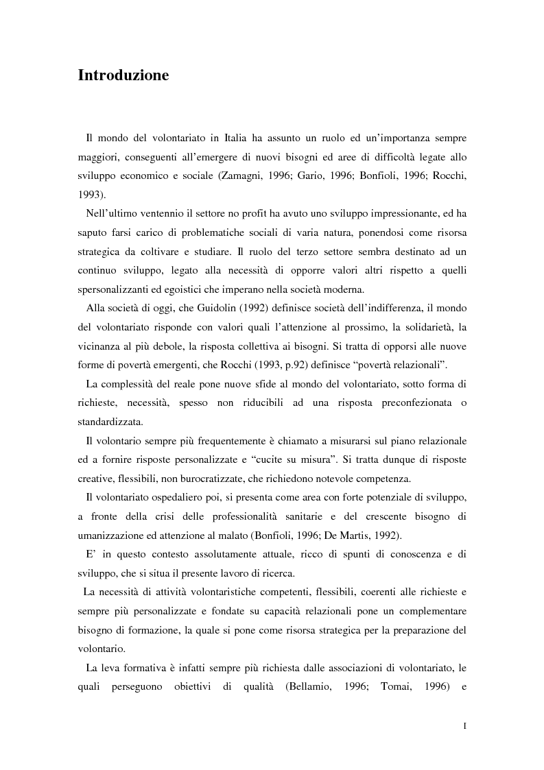 Anteprima della tesi: Aspetti narrativi dell'azione formativa. L'esperienza Abio, Pagina 1