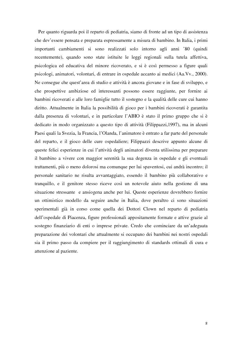 Anteprima della tesi: Aspetti narrativi dell'azione formativa. L'esperienza Abio, Pagina 11