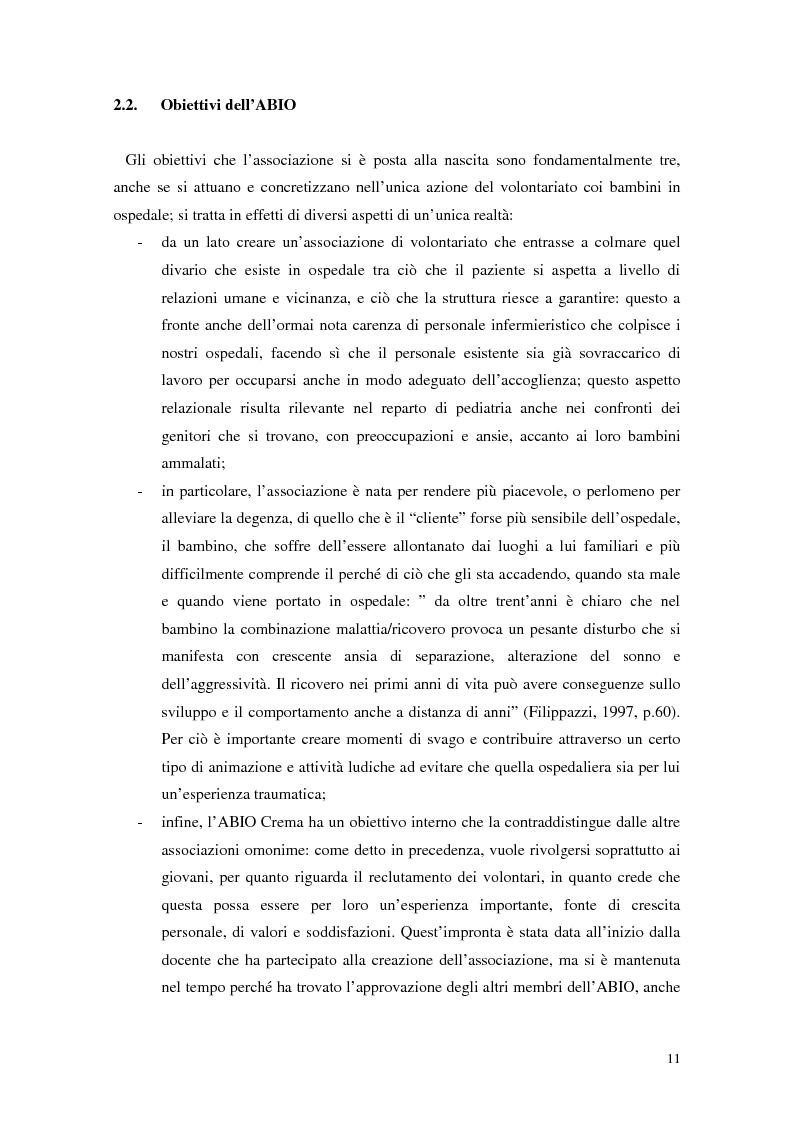 Anteprima della tesi: Aspetti narrativi dell'azione formativa. L'esperienza Abio, Pagina 14