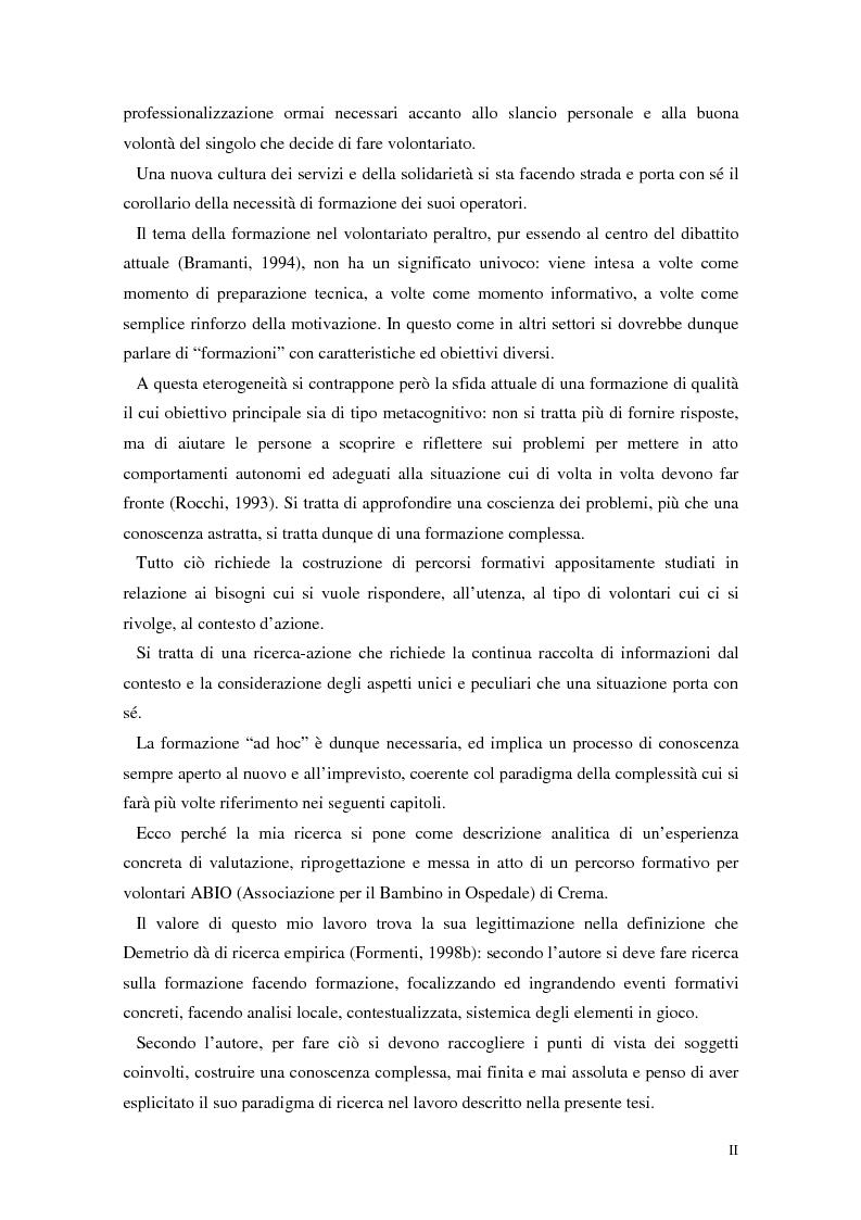 Anteprima della tesi: Aspetti narrativi dell'azione formativa. L'esperienza Abio, Pagina 2