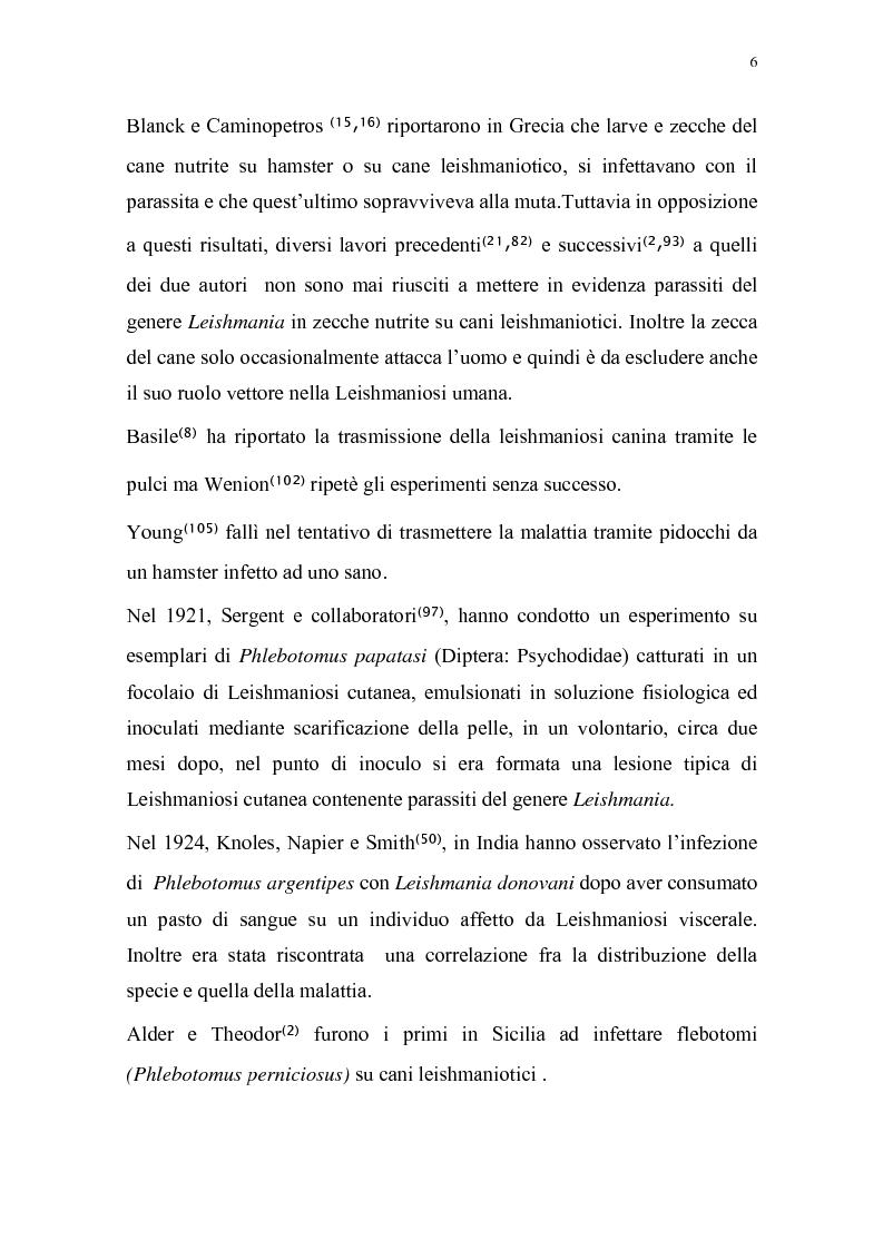 Anteprima della tesi: Distribuzione dei vettori di Leishmaniosi canina in provincia di Alessandria, Pagina 3
