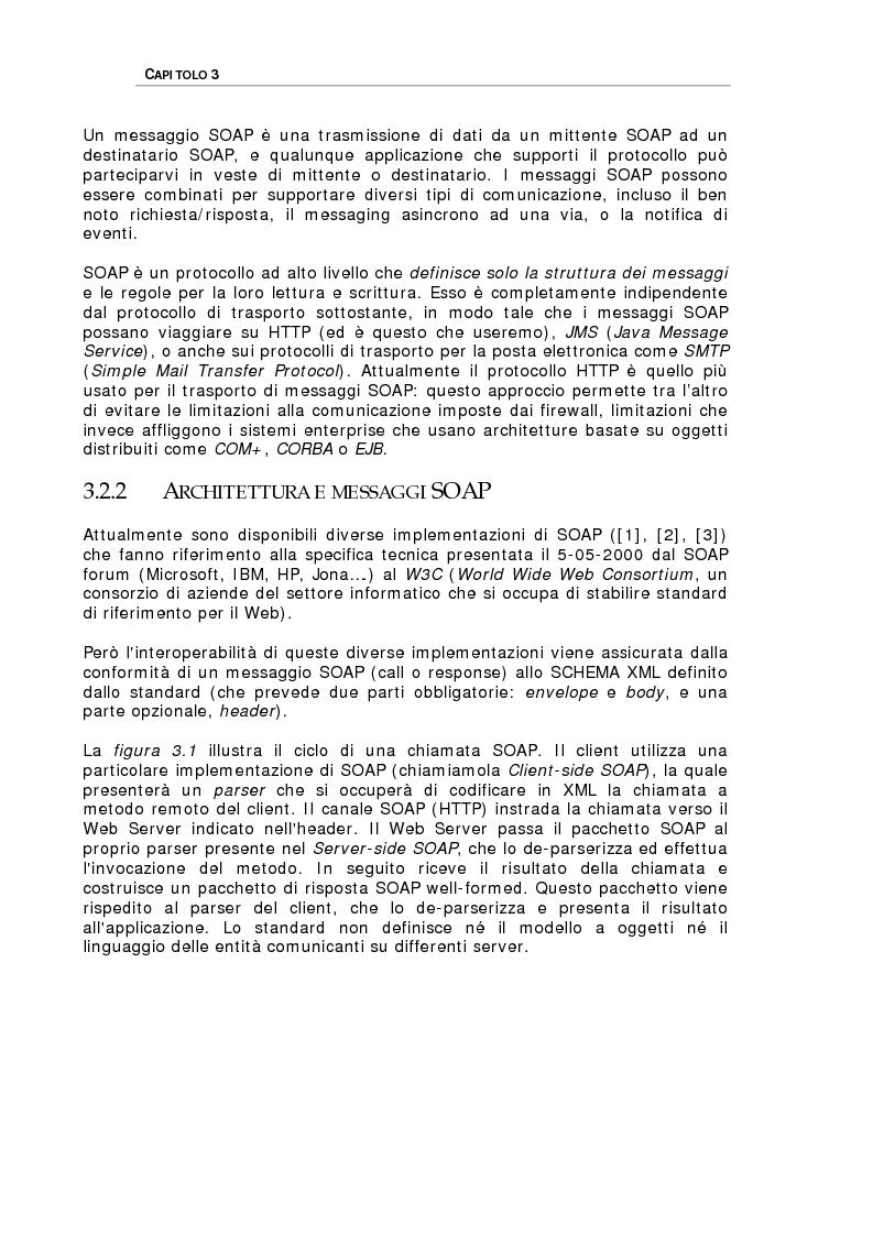 Anteprima della tesi: Studio delle problematiche legate alla realizzazione di una applicazione enterprise basata su Web Service, Pagina 13