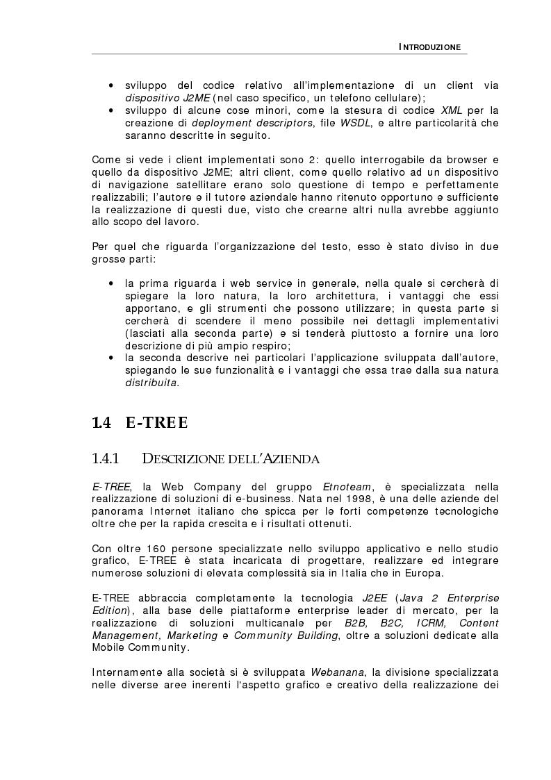 Anteprima della tesi: Studio delle problematiche legate alla realizzazione di una applicazione enterprise basata su Web Service, Pagina 3