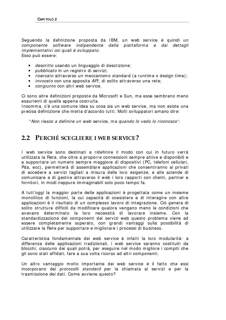 Anteprima della tesi: Studio delle problematiche legate alla realizzazione di una applicazione enterprise basata su Web Service, Pagina 7