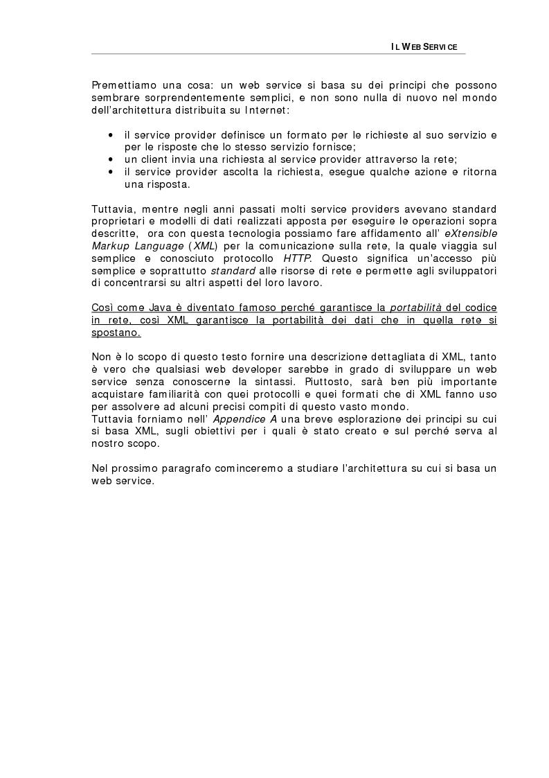 Anteprima della tesi: Studio delle problematiche legate alla realizzazione di una applicazione enterprise basata su Web Service, Pagina 8