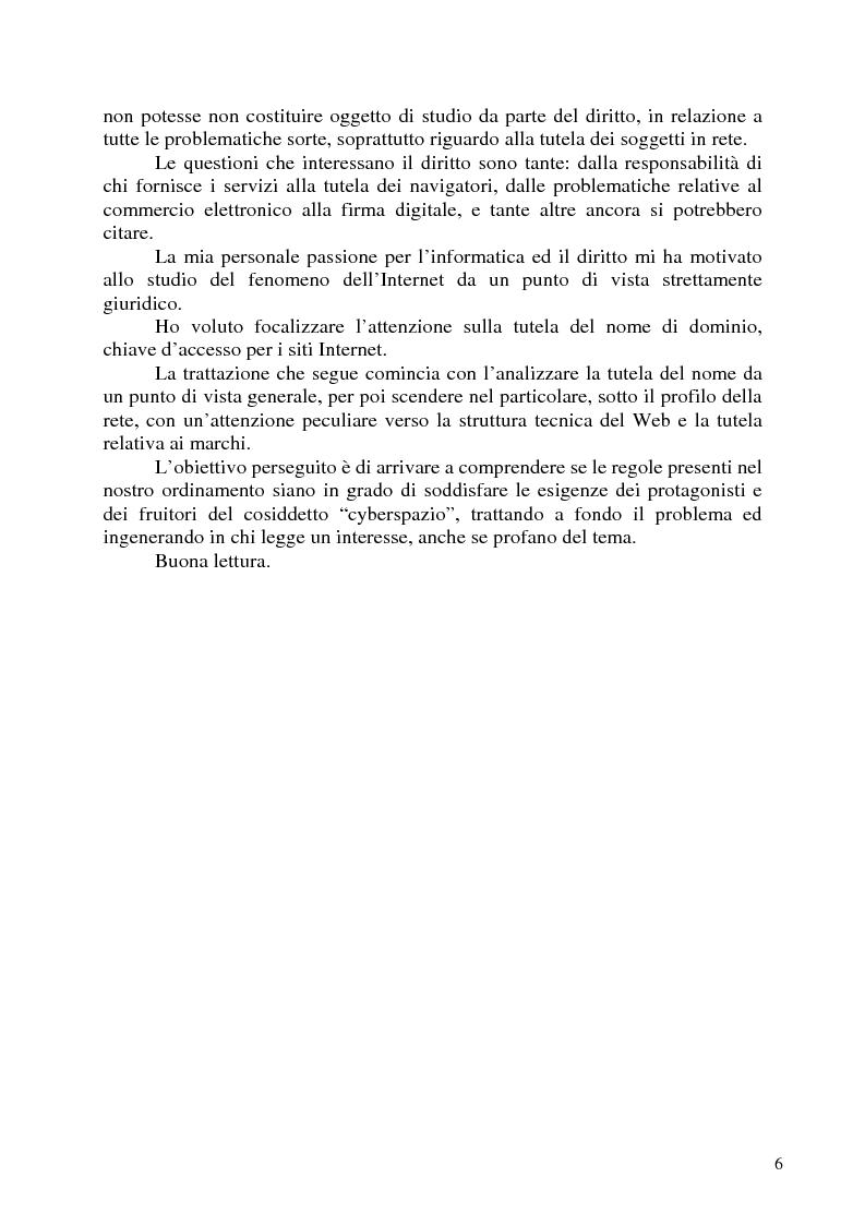 Anteprima della tesi: Nomi, marchi e nomi di dominio: un rapporto difficile, Pagina 4