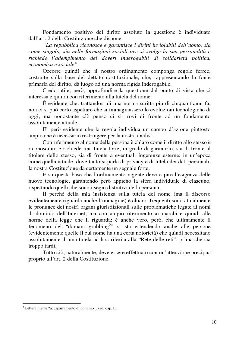 Anteprima della tesi: Nomi, marchi e nomi di dominio: un rapporto difficile, Pagina 6