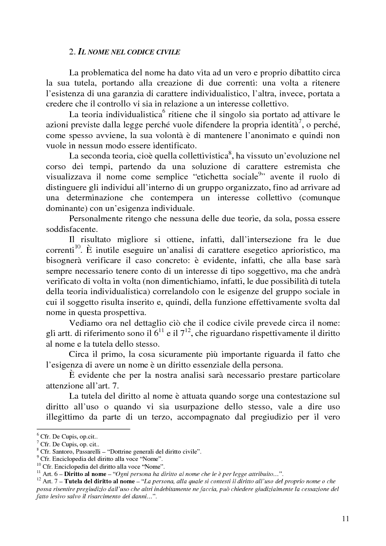 Anteprima della tesi: Nomi, marchi e nomi di dominio: un rapporto difficile, Pagina 7