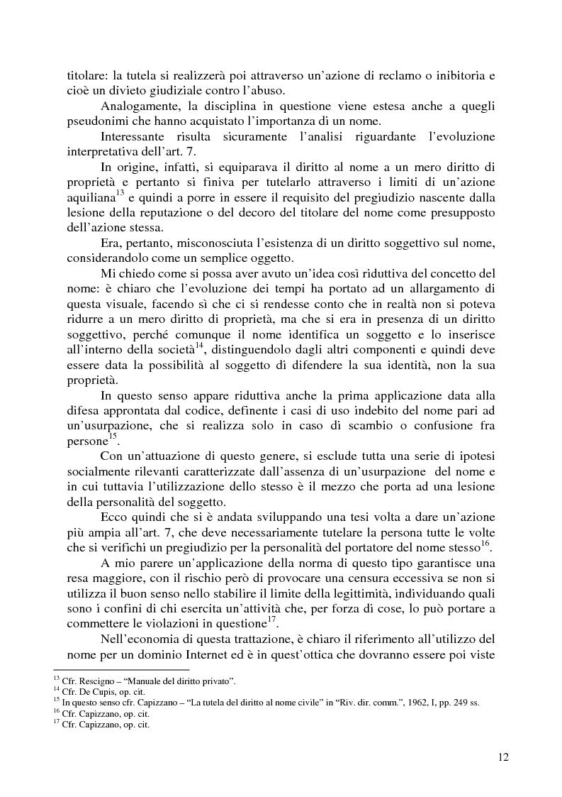 Anteprima della tesi: Nomi, marchi e nomi di dominio: un rapporto difficile, Pagina 8