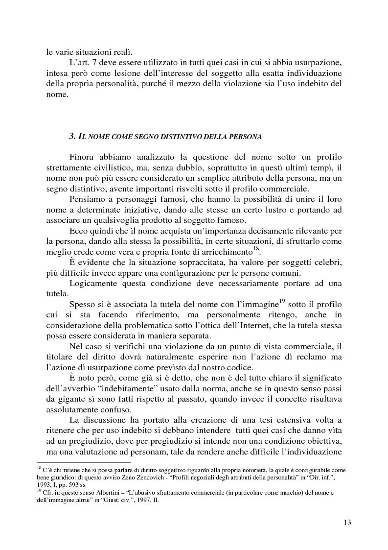 Anteprima della tesi: Nomi, marchi e nomi di dominio: un rapporto difficile, Pagina 9