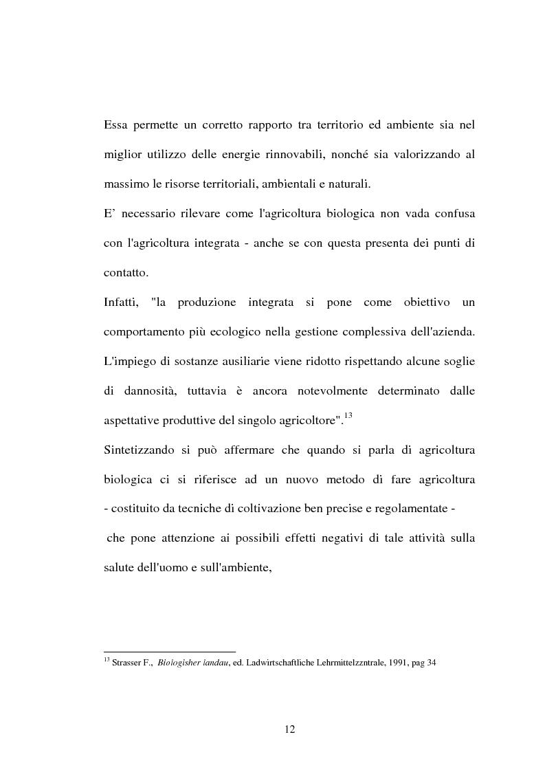 Anteprima della tesi: Agricoltura biologica: un nuovo modo di produrre e vendere, Pagina 11