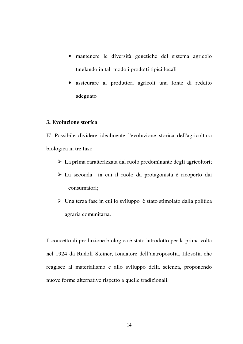 Anteprima della tesi: Agricoltura biologica: un nuovo modo di produrre e vendere, Pagina 13