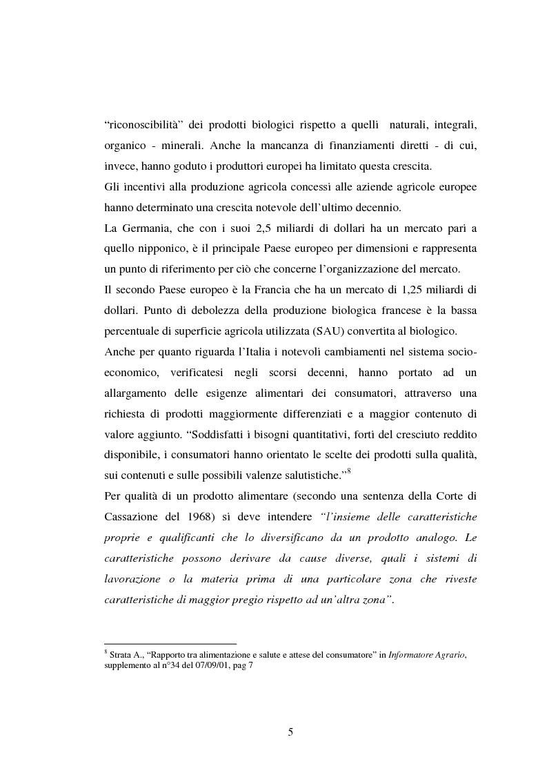 Anteprima della tesi: Agricoltura biologica: un nuovo modo di produrre e vendere, Pagina 4