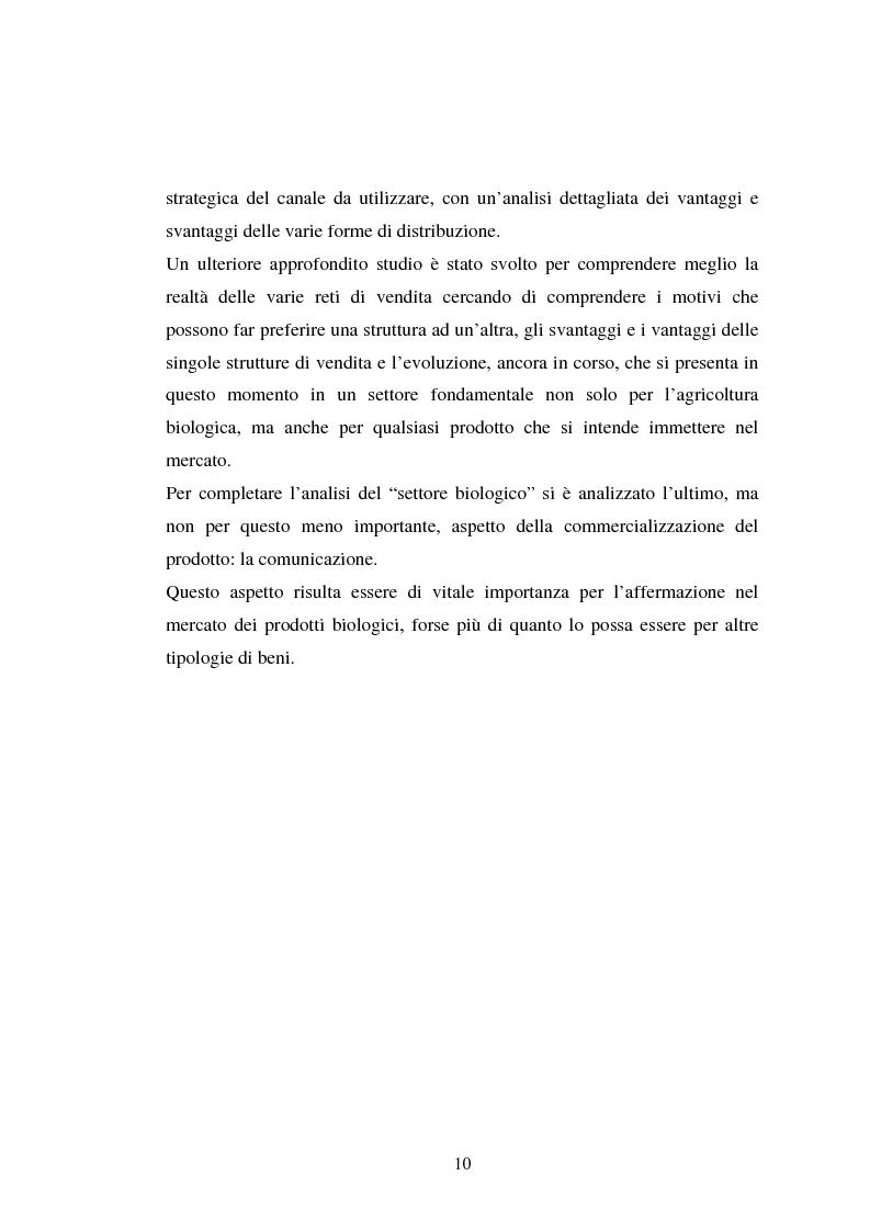 Anteprima della tesi: Agricoltura biologica: un nuovo modo di produrre e vendere, Pagina 9