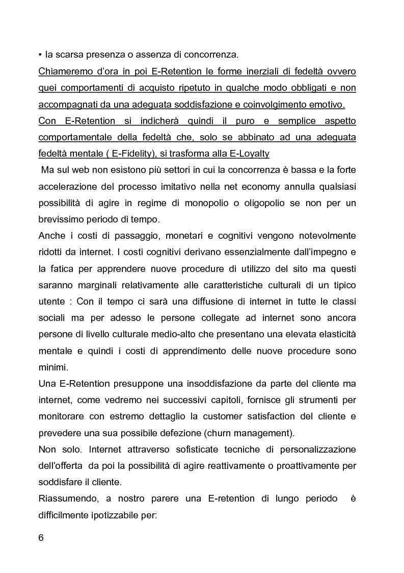 Anteprima della tesi: E-loyalty: la fedeltà del cliente nelle attività di web marketing, Pagina 3