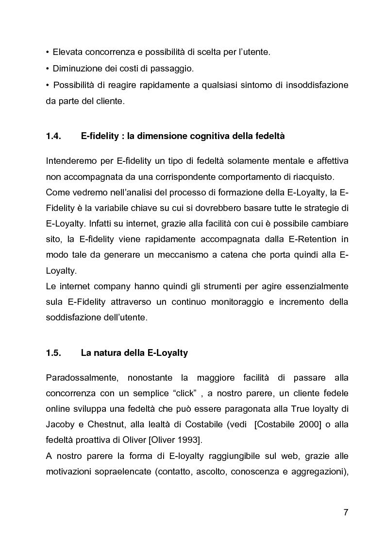 Anteprima della tesi: E-loyalty: la fedeltà del cliente nelle attività di web marketing, Pagina 4