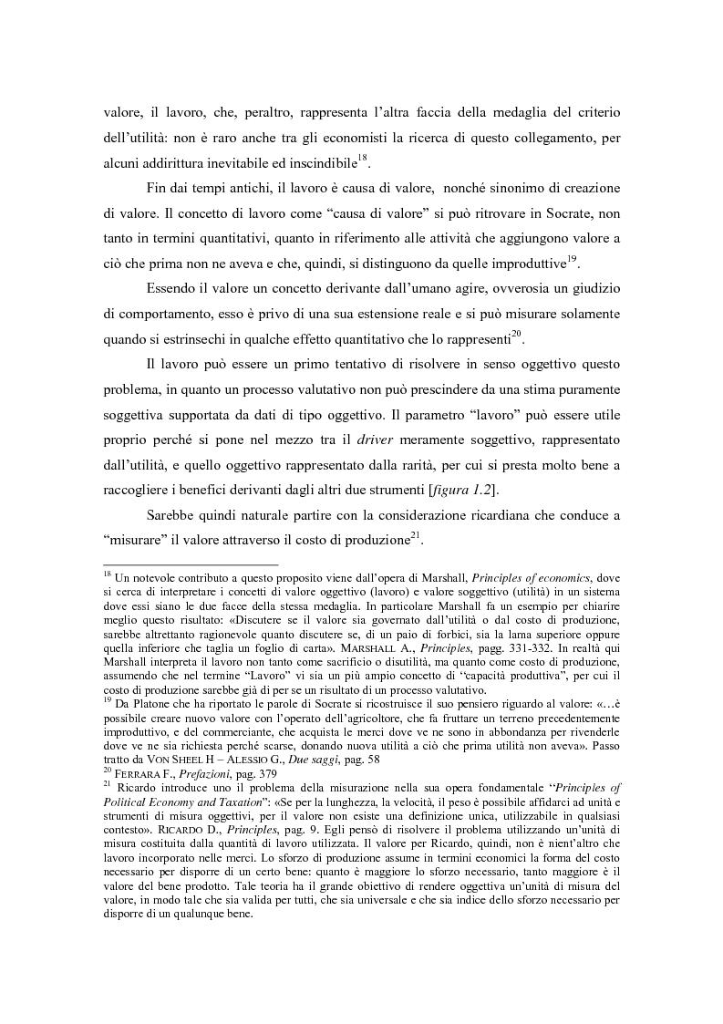 Anteprima della tesi: Il valore nella new economy. Un'analisi critica per la determinazione del capitale economico, Pagina 14