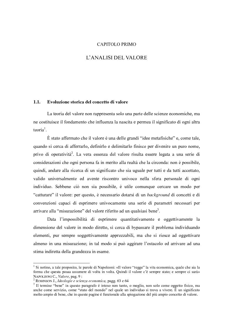 Anteprima della tesi: Il valore nella new economy. Un'analisi critica per la determinazione del capitale economico, Pagina 4