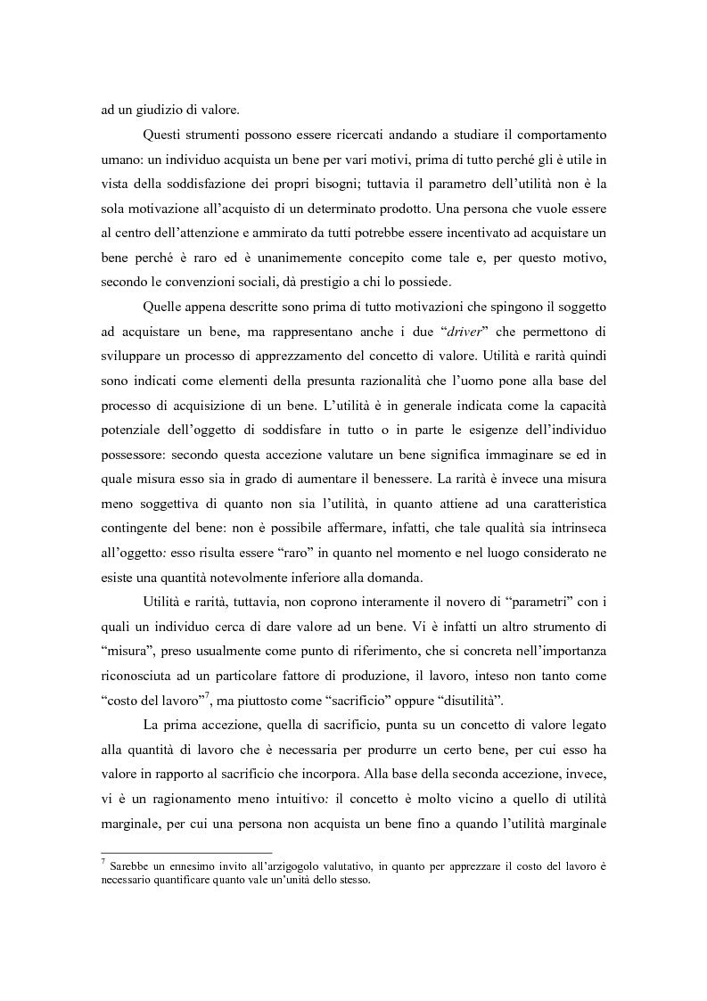 Anteprima della tesi: Il valore nella new economy. Un'analisi critica per la determinazione del capitale economico, Pagina 9