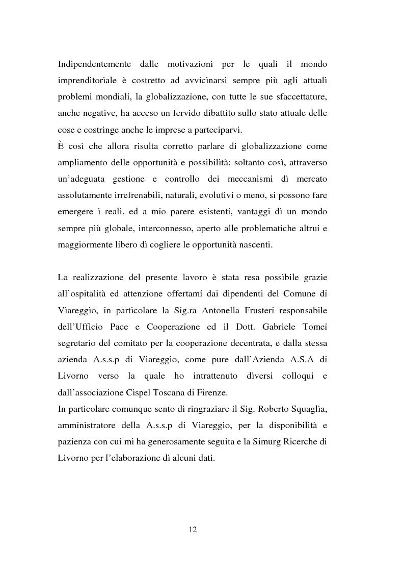 Anteprima della tesi: Processi di internazionalizzazione delle piccole e medie imprese e nuove forme di cooperazione allo sviluppo: un'esperienza di cooperazione con Cuba, Pagina 12