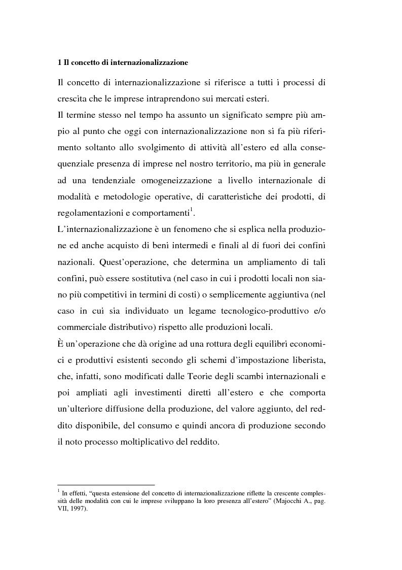 Anteprima della tesi: Processi di internazionalizzazione delle piccole e medie imprese e nuove forme di cooperazione allo sviluppo: un'esperienza di cooperazione con Cuba, Pagina 14