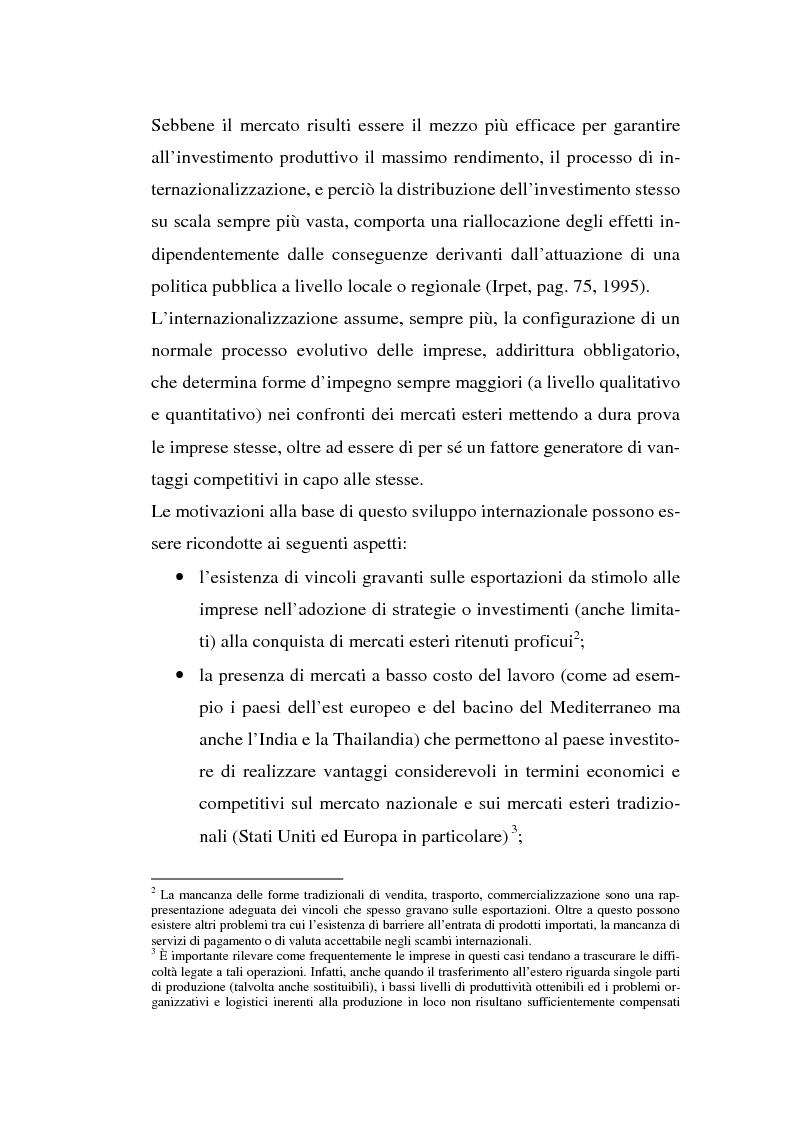 Anteprima della tesi: Processi di internazionalizzazione delle piccole e medie imprese e nuove forme di cooperazione allo sviluppo: un'esperienza di cooperazione con Cuba, Pagina 15