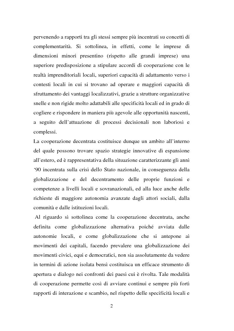 Anteprima della tesi: Processi di internazionalizzazione delle piccole e medie imprese e nuove forme di cooperazione allo sviluppo: un'esperienza di cooperazione con Cuba, Pagina 2