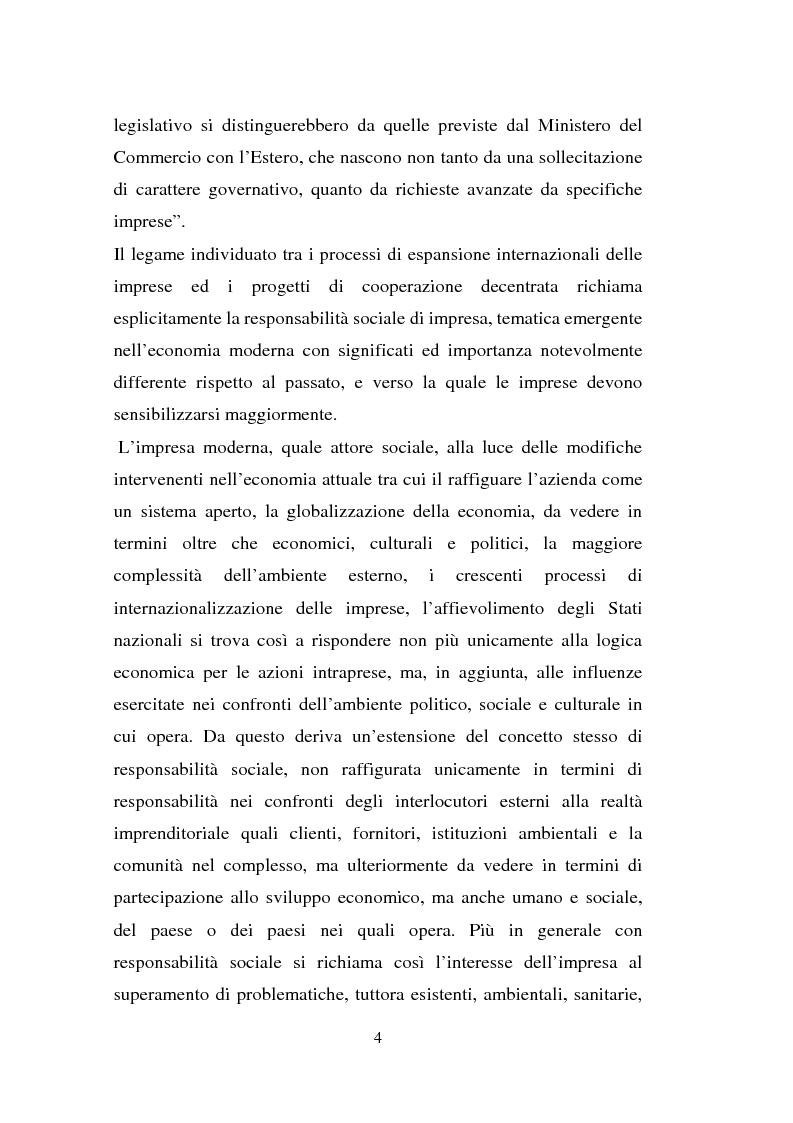 Anteprima della tesi: Processi di internazionalizzazione delle piccole e medie imprese e nuove forme di cooperazione allo sviluppo: un'esperienza di cooperazione con Cuba, Pagina 4