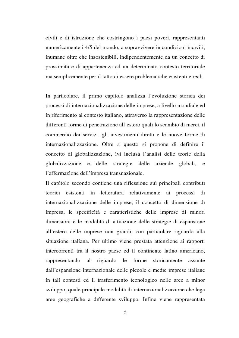 Anteprima della tesi: Processi di internazionalizzazione delle piccole e medie imprese e nuove forme di cooperazione allo sviluppo: un'esperienza di cooperazione con Cuba, Pagina 5