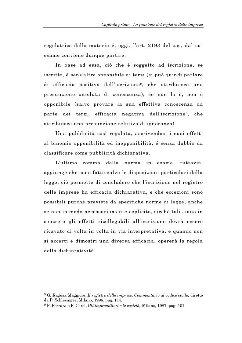 Anteprima della tesi: Il Registro delle Imprese ed, in particolare, il regime dei controlli; l'esperienza dell'ufficio del registro delle imprese di Torino, Pagina 11