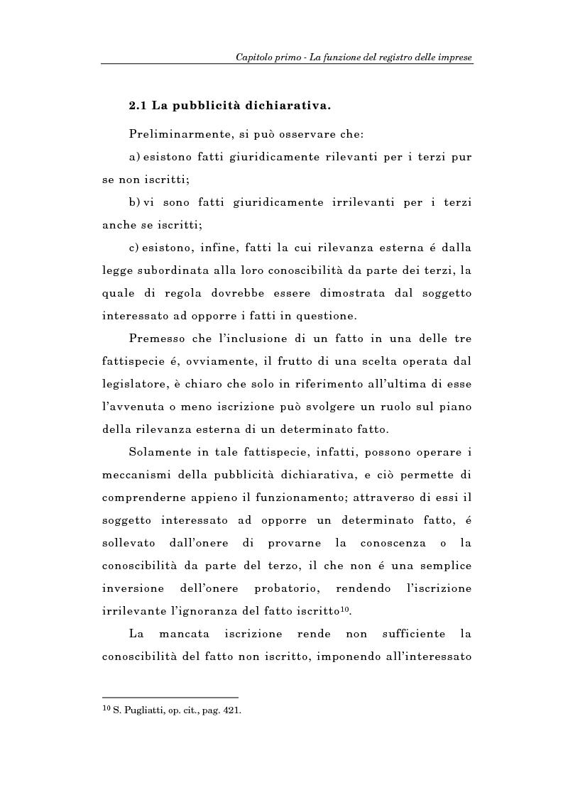 Anteprima della tesi: Il Registro delle Imprese ed, in particolare, il regime dei controlli; l'esperienza dell'ufficio del registro delle imprese di Torino, Pagina 12