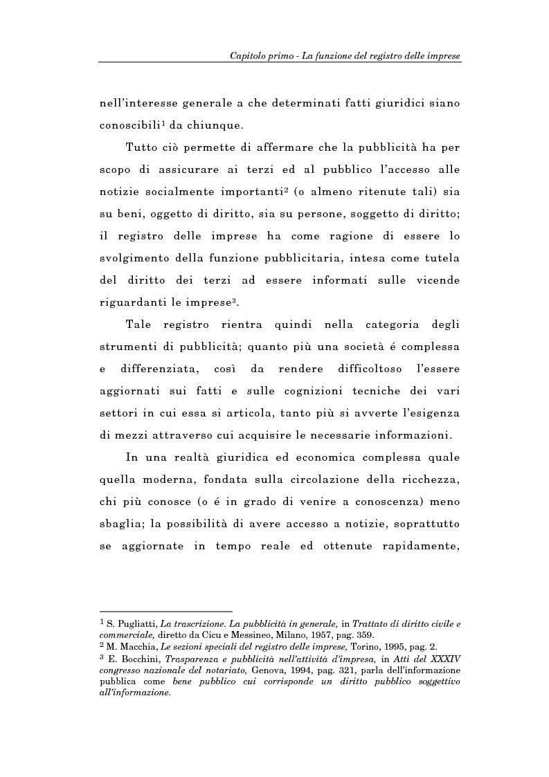 Anteprima della tesi: Il Registro delle Imprese ed, in particolare, il regime dei controlli; l'esperienza dell'ufficio del registro delle imprese di Torino, Pagina 6