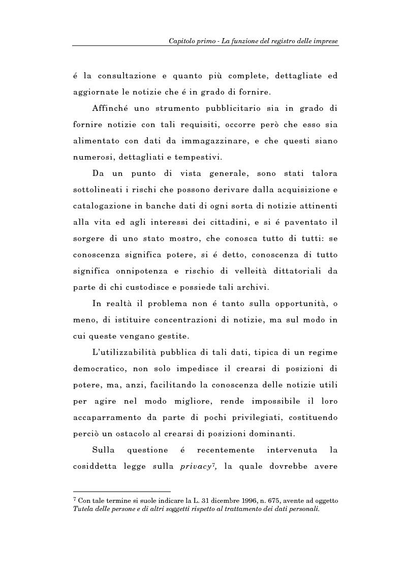 Anteprima della tesi: Il Registro delle Imprese ed, in particolare, il regime dei controlli; l'esperienza dell'ufficio del registro delle imprese di Torino, Pagina 8