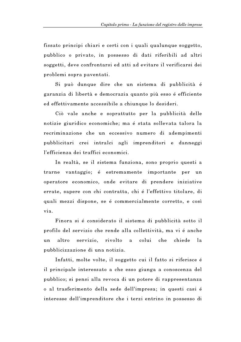 Anteprima della tesi: Il Registro delle Imprese ed, in particolare, il regime dei controlli; l'esperienza dell'ufficio del registro delle imprese di Torino, Pagina 9