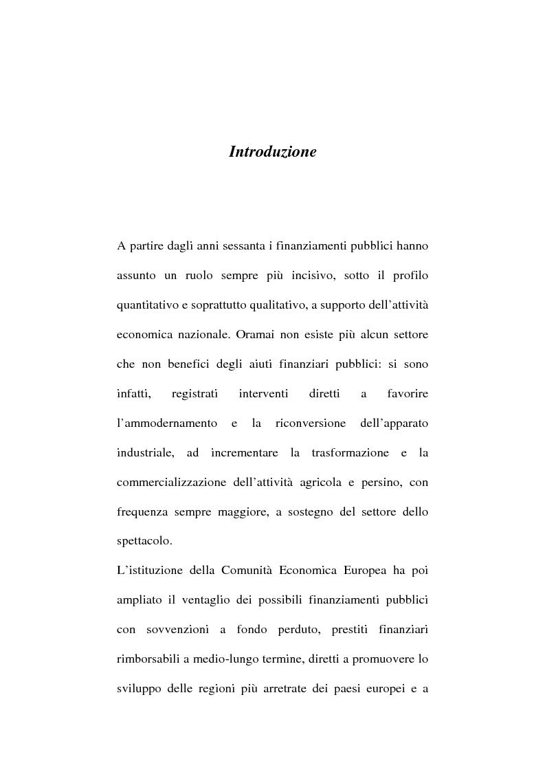 Anteprima della tesi: Art. 640-bis c.p.: Truffa aggravata per il conseguimento di erogazioni pubbliche, Pagina 1