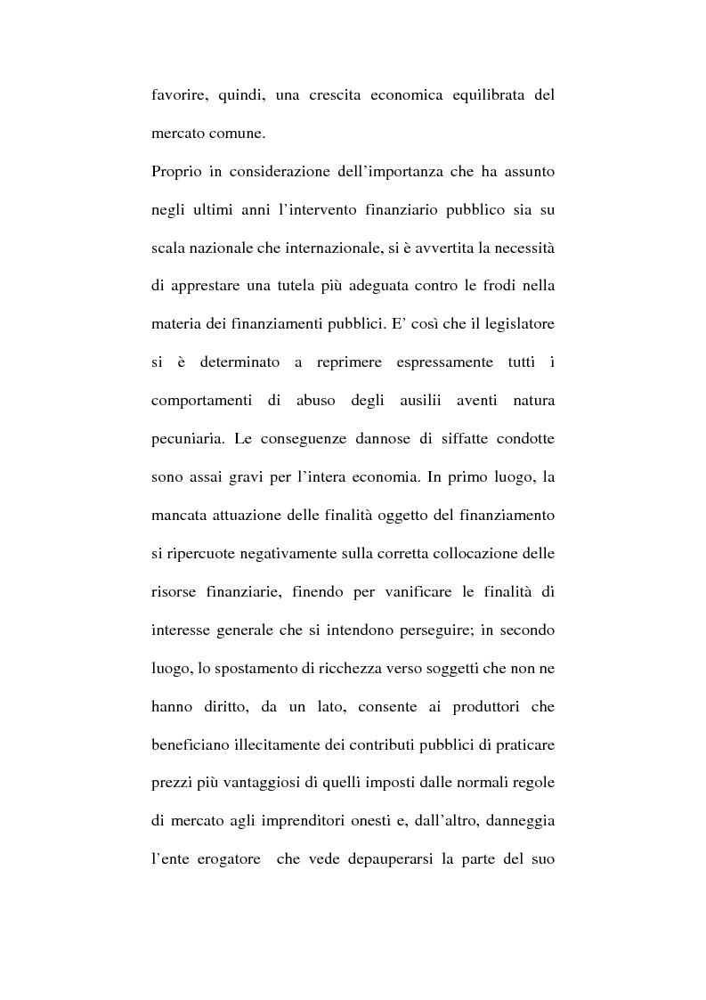 Anteprima della tesi: Art. 640-bis c.p.: Truffa aggravata per il conseguimento di erogazioni pubbliche, Pagina 2