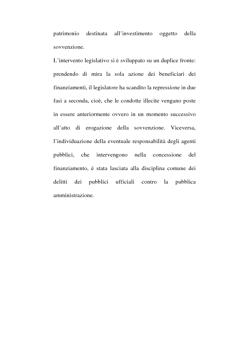 Anteprima della tesi: Art. 640-bis c.p.: Truffa aggravata per il conseguimento di erogazioni pubbliche, Pagina 3