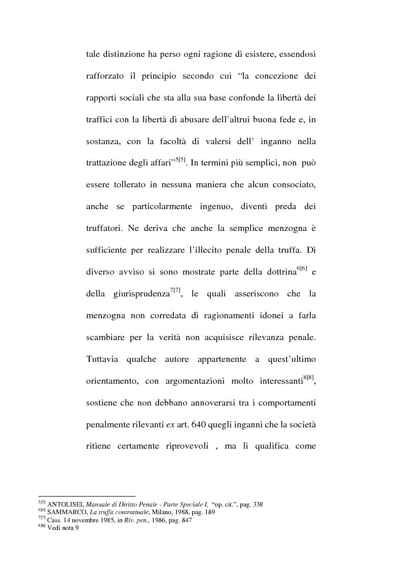 Anteprima della tesi: Art. 640-bis c.p.: Truffa aggravata per il conseguimento di erogazioni pubbliche, Pagina 8