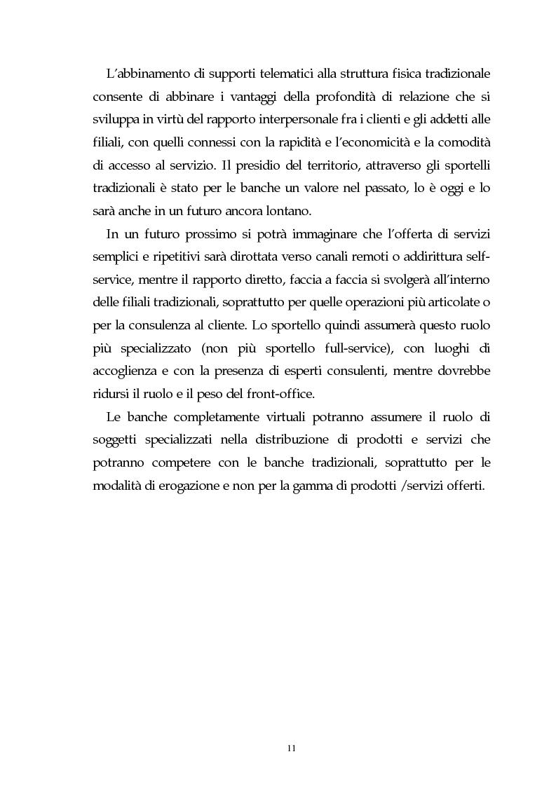 Anteprima della tesi: Evoluzione dell'attività bancaria e riflessi sulla struttura e organizzazione dei canali distributivi, Pagina 11