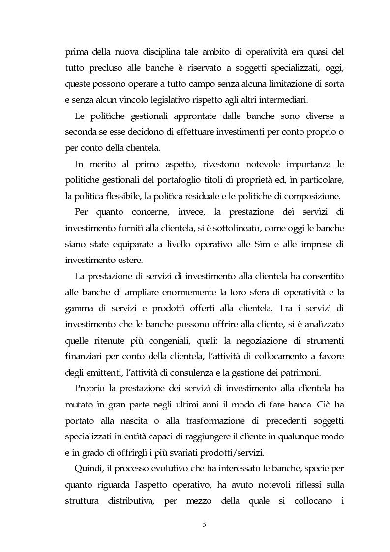 Anteprima della tesi: Evoluzione dell'attività bancaria e riflessi sulla struttura e organizzazione dei canali distributivi, Pagina 5