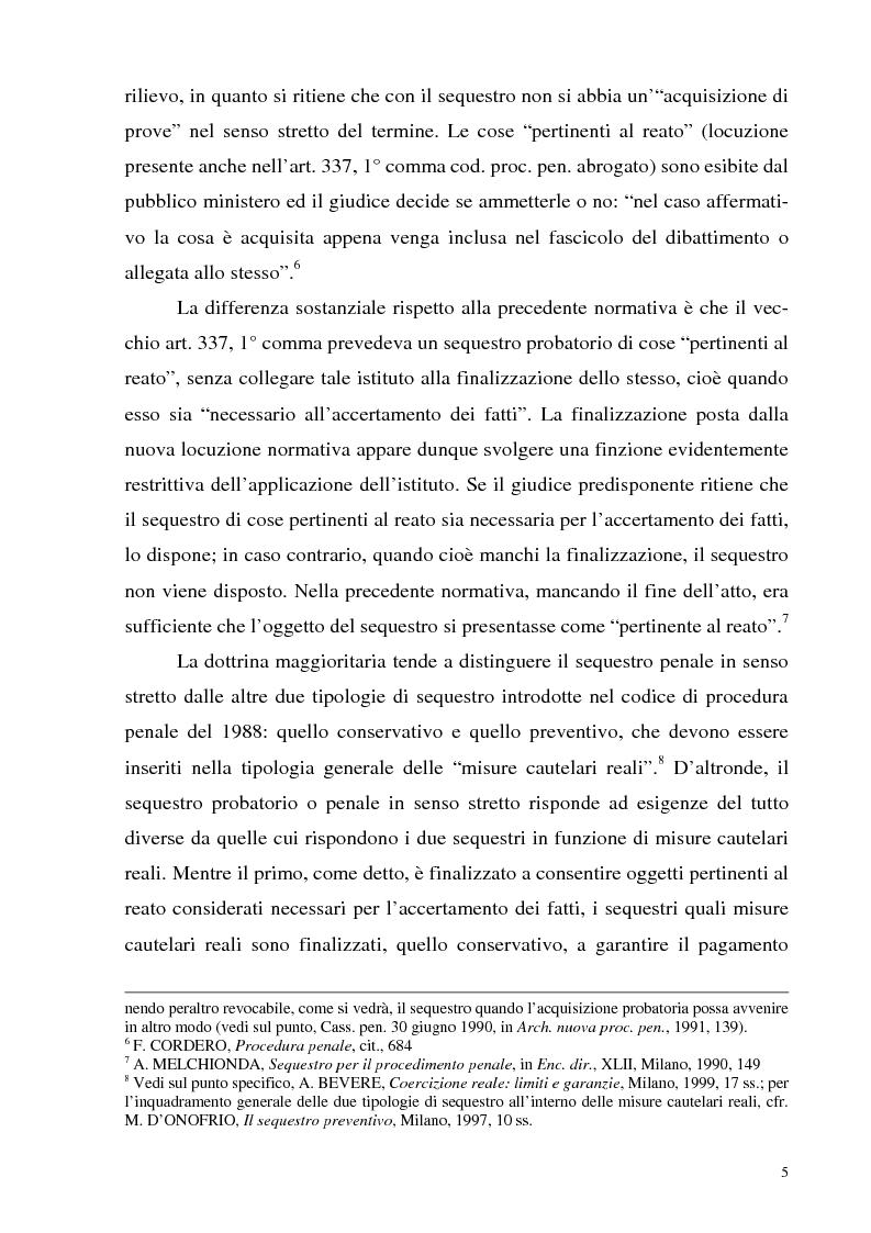 Anteprima della tesi: Il sequestro, Pagina 5