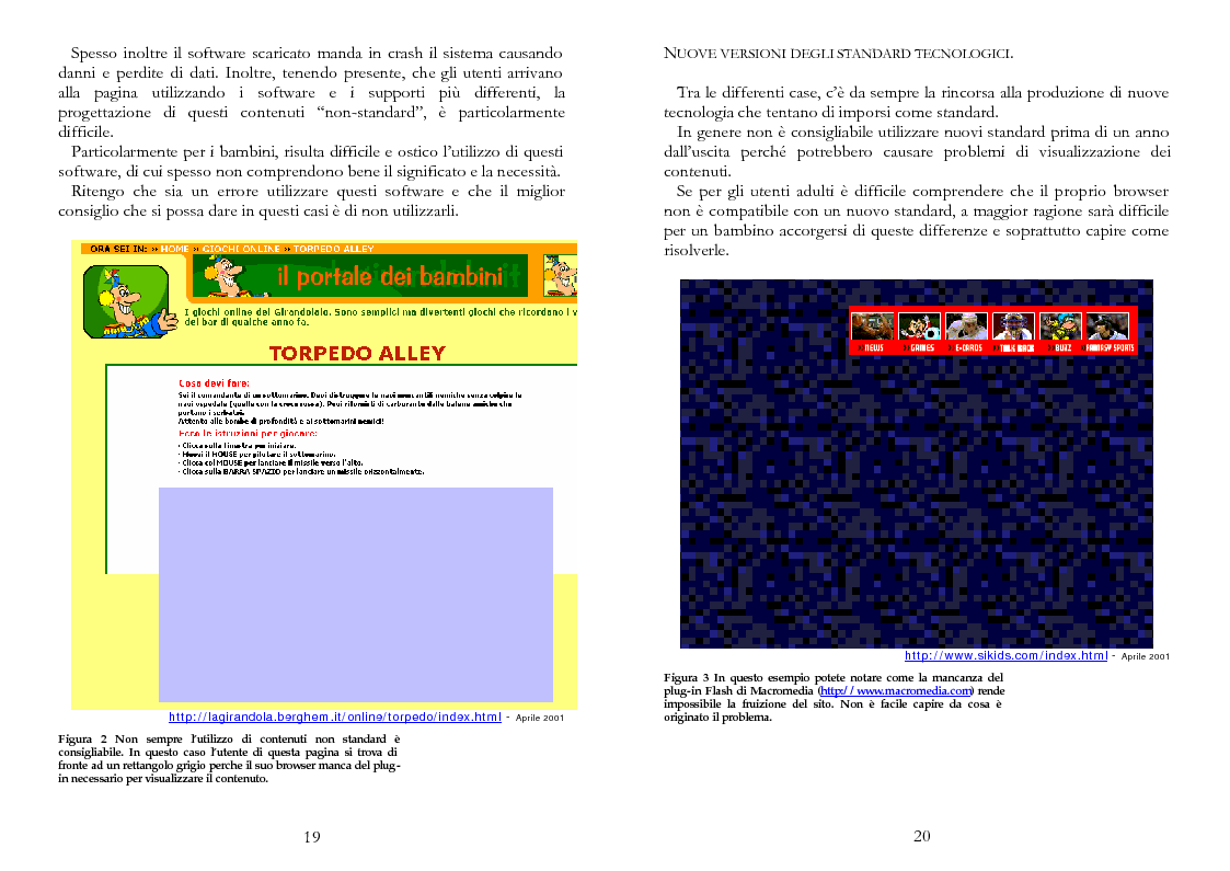 Anteprima della tesi: The Kid Factor, usabilità ed ergonomia dei siti internet per bambini, Pagina 10