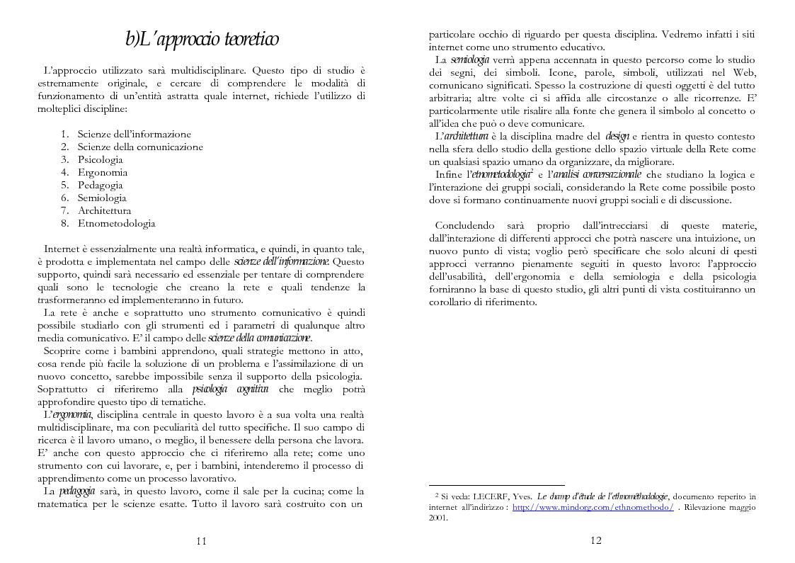 Anteprima della tesi: The Kid Factor, usabilità ed ergonomia dei siti internet per bambini, Pagina 6
