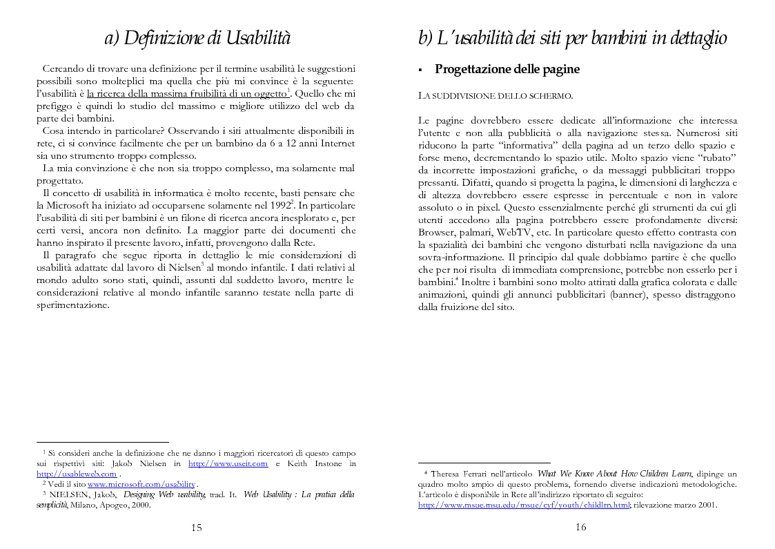 Anteprima della tesi: The Kid Factor, usabilità ed ergonomia dei siti internet per bambini, Pagina 8